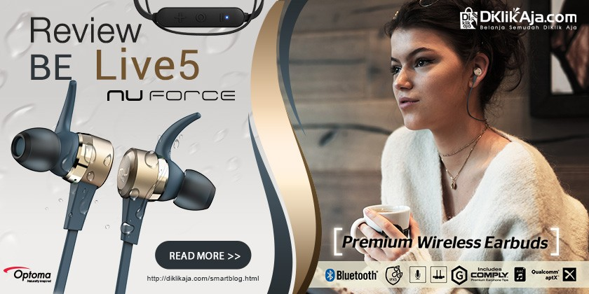 Review Optoma NuForce BE Live5 Headset Earphone Wireless Premium