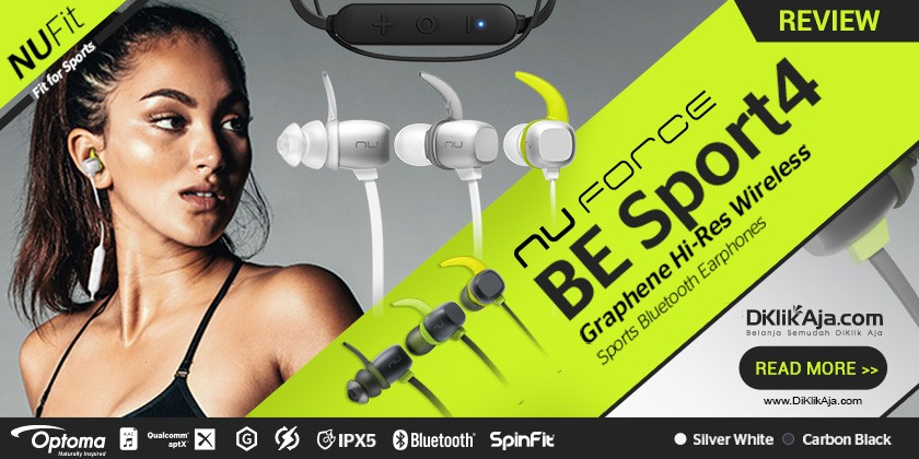 Review Optoma NuForce BE Sport 4 - Headset Earphone Wireless Premium