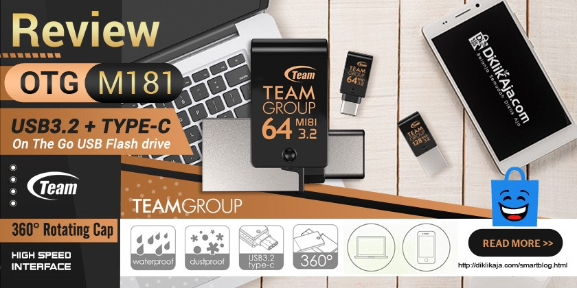 Review Flashdisk USB3.2 OTG Type-C M181 dari Team Group