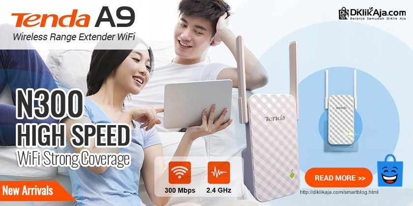 Review TENDA A9 Extender Wireless N300 Penguat Signal WiFi