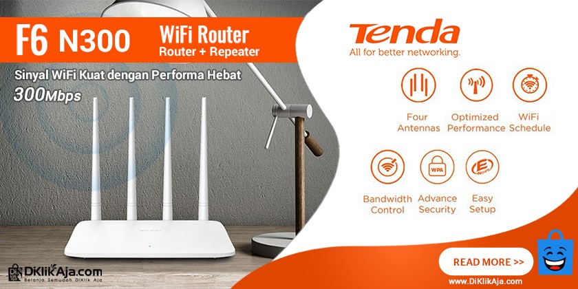 Review TENDA F6 Router Wireless N300 Repeater