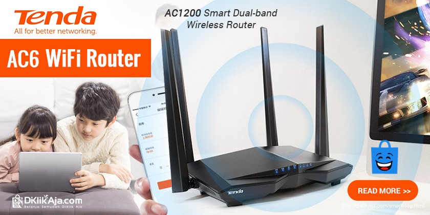 Review TENDA AC6 Router WiFi AC1200 Smart Dual-Band