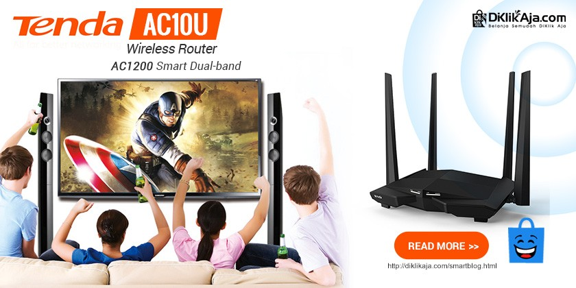 Review TENDA AC10U Router WiFi AC1200 Smart Dual-Band Gigabit