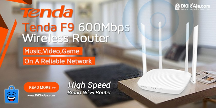 Review Smart Router WiFi F9 dari TENDA