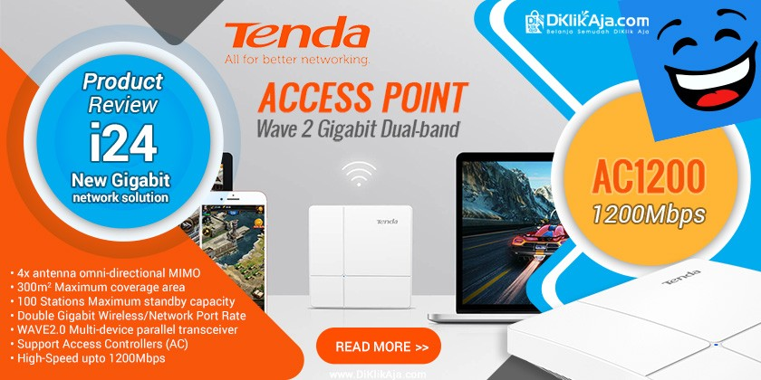 Review Access Point TENDA AC1200 i24 Wave 2 Gigabit