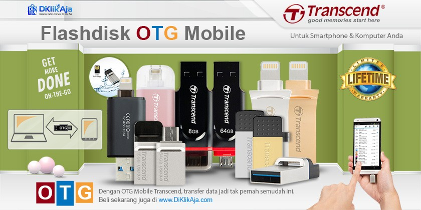 Ini Dia Flashdisk On The Go (OTG Mobile) Transcend!