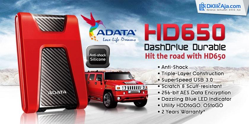Review ADATA DashDrive Durable HD650 Hard Disk Eksternal