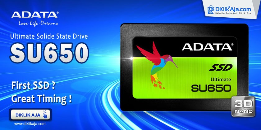 Review ADATA SSD Ultimate SU650 3D NAND