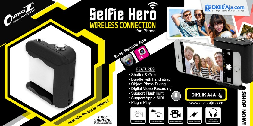 Review OptimuZ Wireless Selfie Hero Hand Grip Shutter for iPhone with SIRI