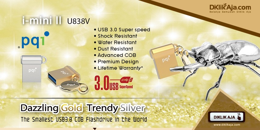 Review PQI i-mini II U838V Flashdisk USB 3.0 COB