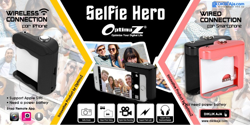 Review OptimuZ SELFIE HERO Hand Grip Shutter untuk Smartphone