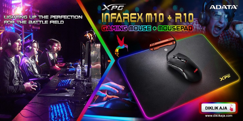 Review ADATA XPG Infarex M10 Gaming Mouse dan R10 Gaming Mousepad