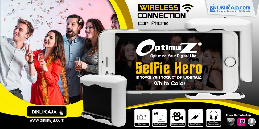OptimuZ Menghadirkan SELFIE HERO Wireless warna Putih