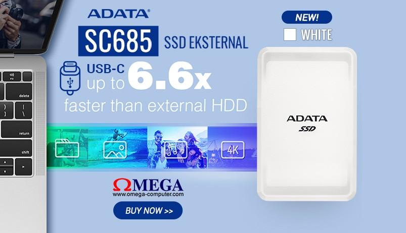 ADATA SSD Eksternal SC685 Putih - Produk Baru