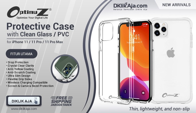 NEW - OptimuZ Soft Case Pelindung iPhone 11 Pro MAX – Clean