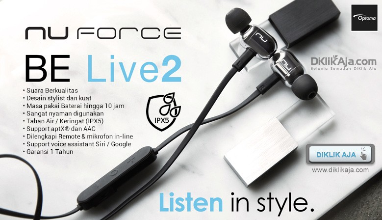 New Arrival - OPTOMA NuForce BE Live2 Earphone Wireless Bluetooth Audio