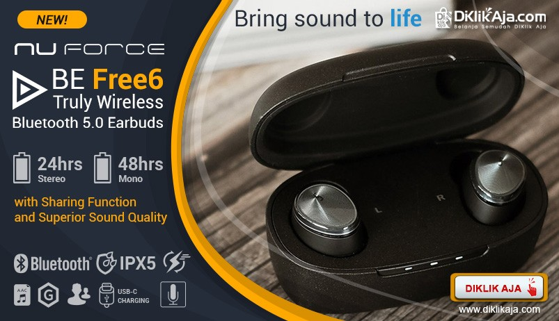 Optoma NuForce BE Free6 Truly Wireless - New Arrival
