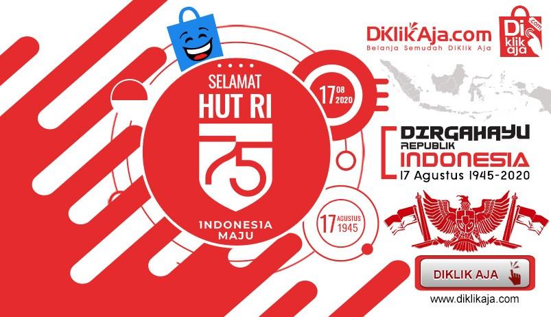DiKlikAja HUT Republik Indonesia 75 tahun 2020