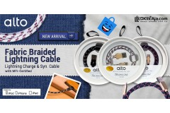 Produk Baru! Alto Kabel Data & Charger Lightning Braided Fabric